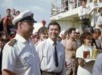 Капитан Сидоров Б.К. и нач.экспедиции Валиев О.Х. на празднике перехода экватора.
