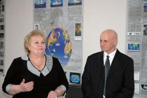 Директор школы и председатель Одесского отделения Клуба ветеранов МКФ Гордеев Б.И.