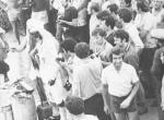 """Праздник Нептуна на """"КЮГ"""" , 1974 год, перехода через экватор.      Фото Внуков В."""