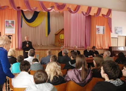 Выступление космонавта  Скворцова Александра Александровича