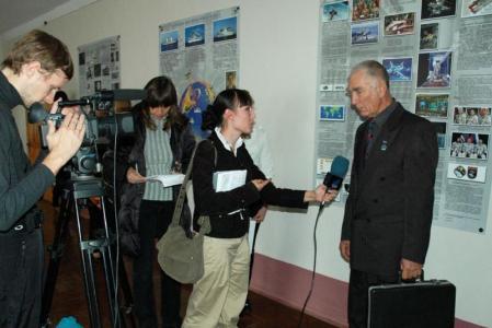 Интервью космонавта Скворцова А.А. телевидению Одессы