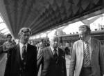 Безбородов, Папанин, Калашник, на Ленинградском вокзале в  Москве после приёмки КЮГа 1971г
